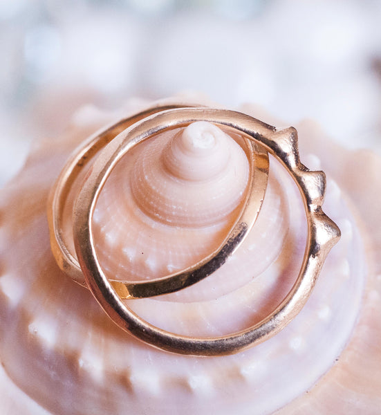 Rising Tide Ring | Sterling Silver, 14k Gold or 14k Rose Gold Ring