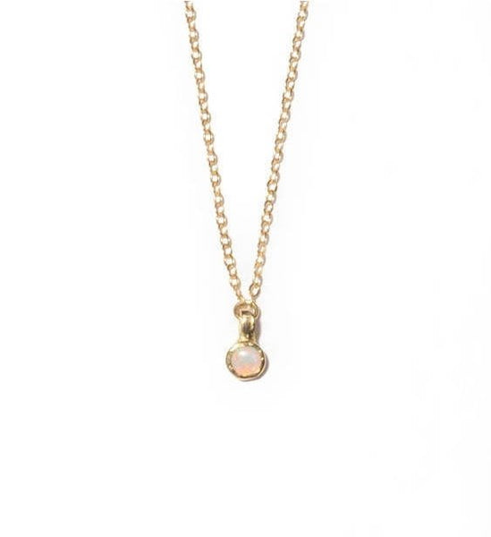 Tiny Drop Necklace | Layering Necklace
