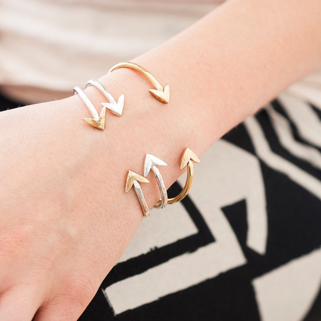 In Fight Cuff | Nature Inspired | Silver, Silver and Gold, Gold, or Gold and Rose Gold Cuff