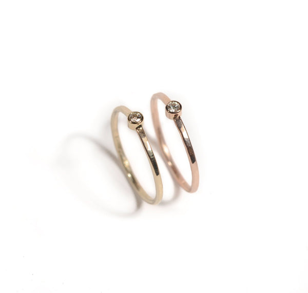 14k Shining Goddess | 14k Yellow Gold, 14k Rose Gold or 14k White Gold | Diamond Ring