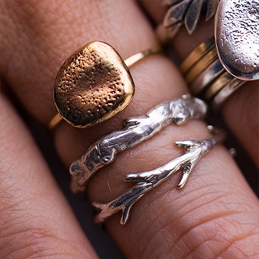 Sticks and Stones Ring Set
