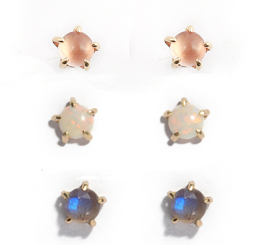 14k 5mm Stone Warrior Studs