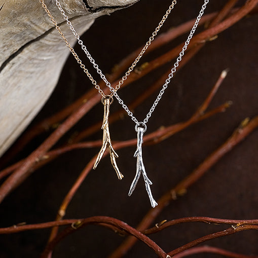 14k Twig Necklace