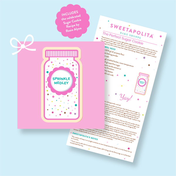 "Sweetapolita™ ""Sprinkle Bottle"" Cookie Cutter with Recipe Card"