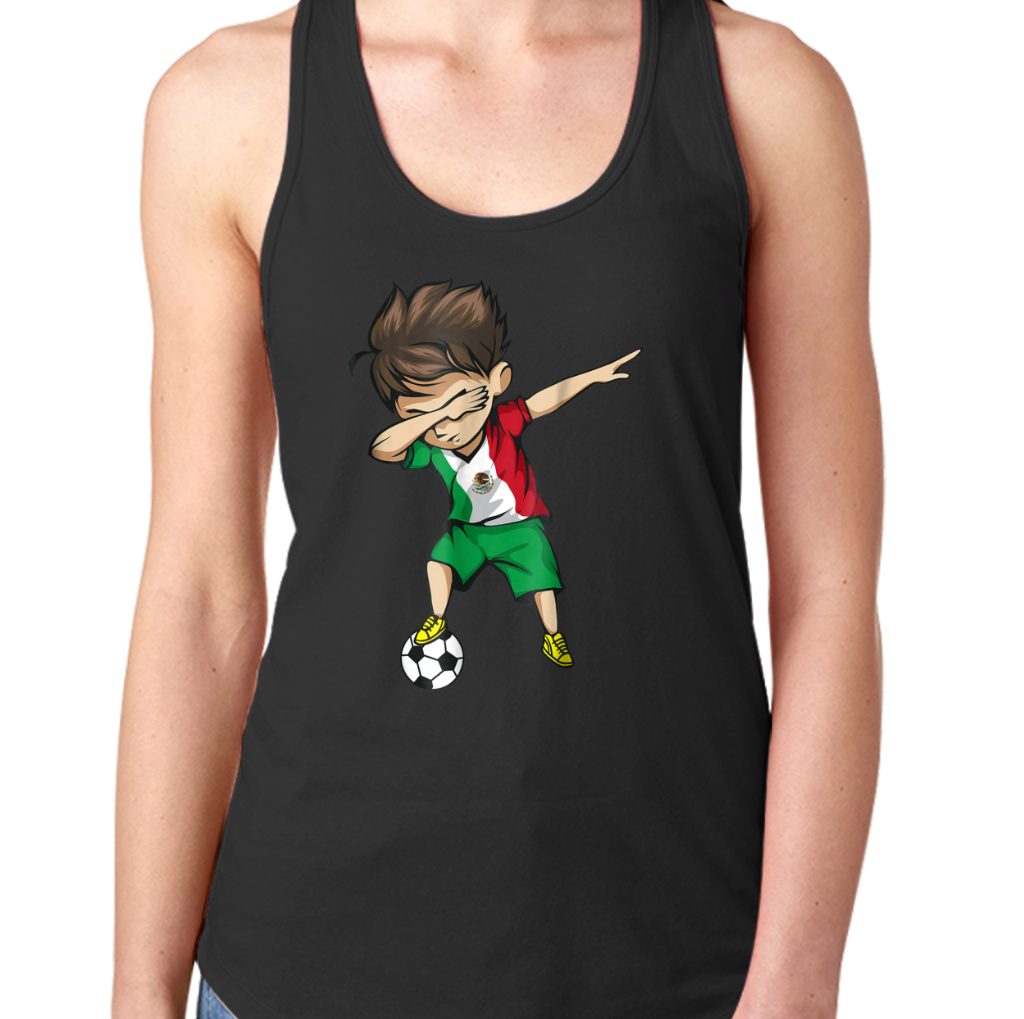 f37e2dc96 Dabbing Soccer Boy Mexico Jersey Shirt - Mexican Football Women's Tank Tops