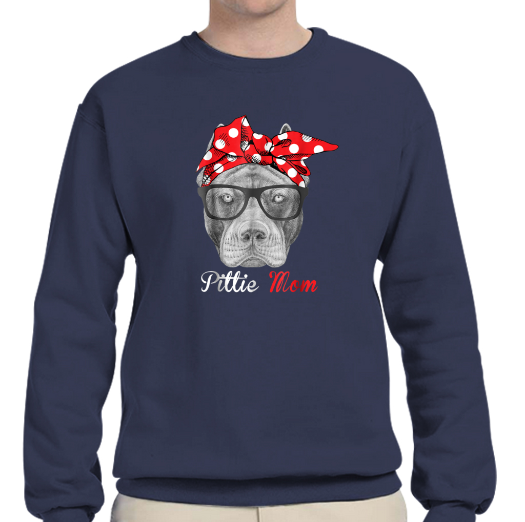 93bba240919 ... Pittie Mom Shirt For Pitbull Dog Lovers-mothers Day Gift Crew Neck  Sweatshirts ...