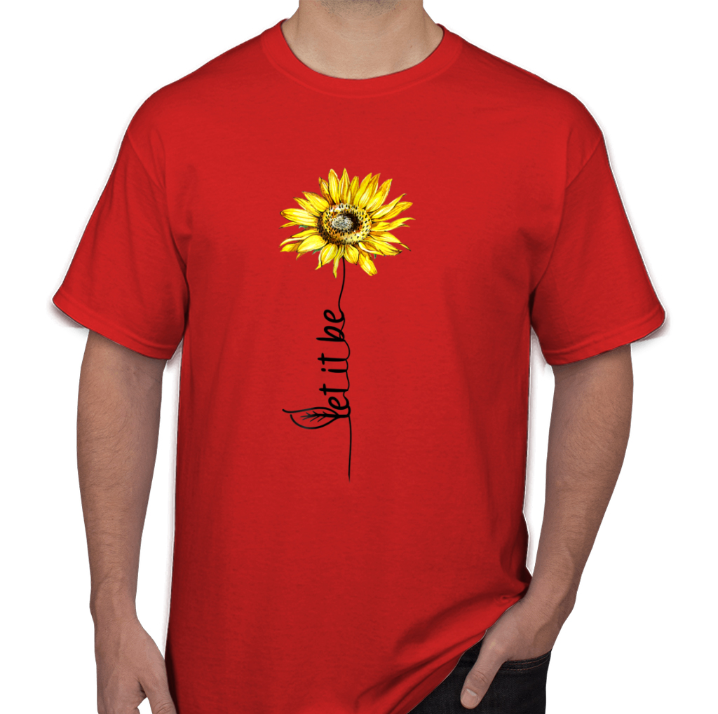 Let It Be Sunflower Vintage Hippie Gypsy Soul Men S T Shirts