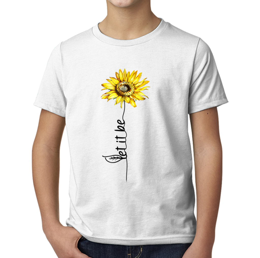 Let It Be Sunflower Vintage Hippie Gypsy Soul Young T Shirts