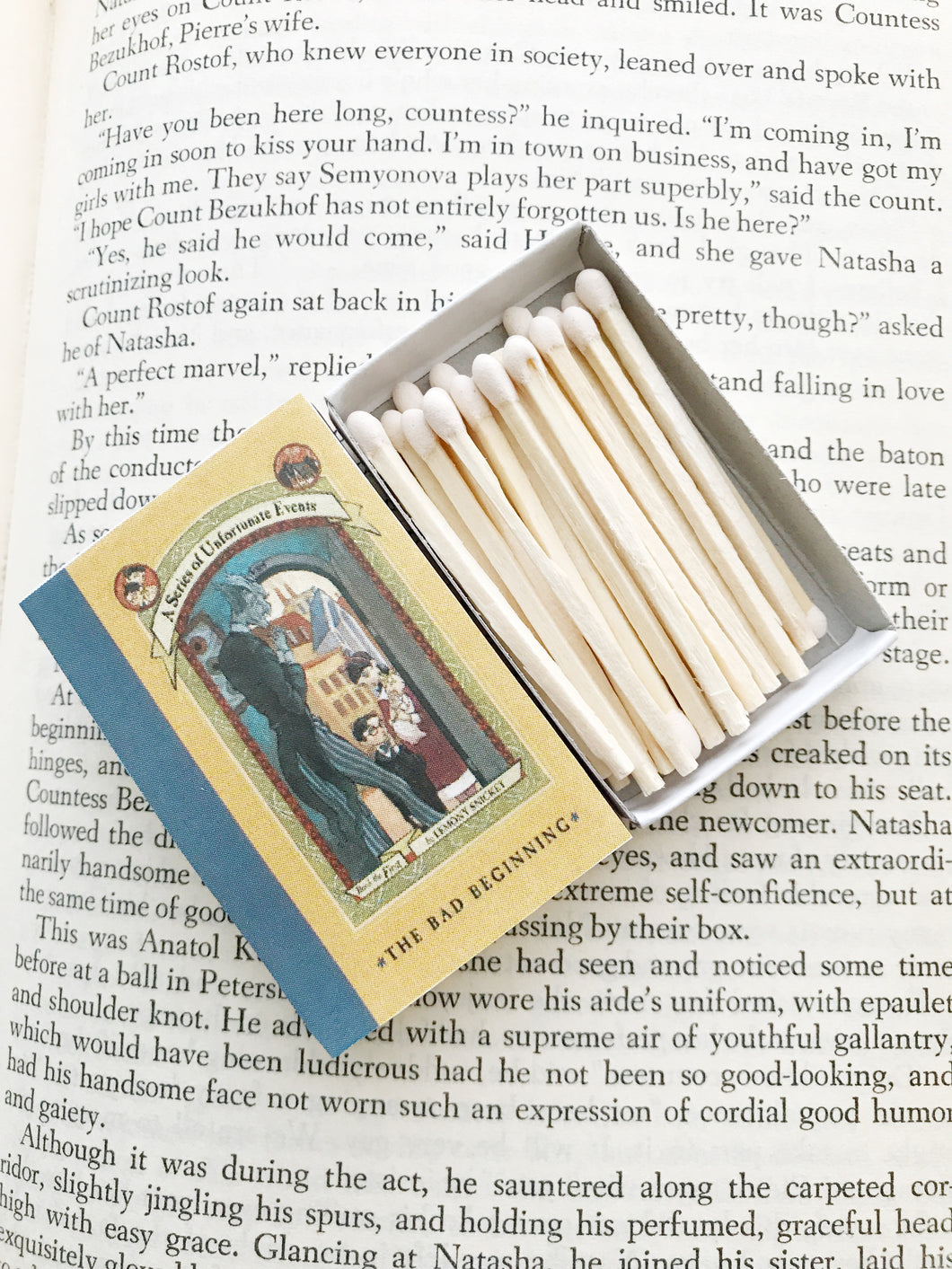 Lemony Snicket's a Series of Unfortunate Events Book Matches