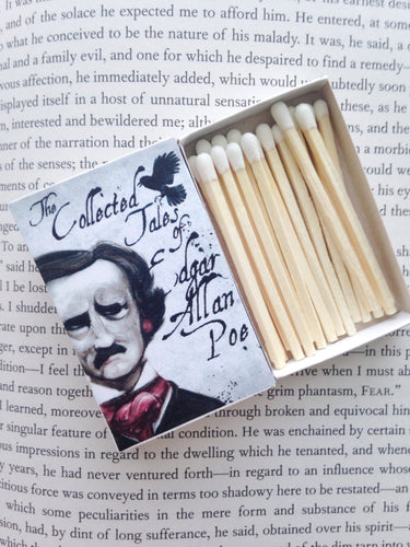 Edgar Allan Poe Book Matches