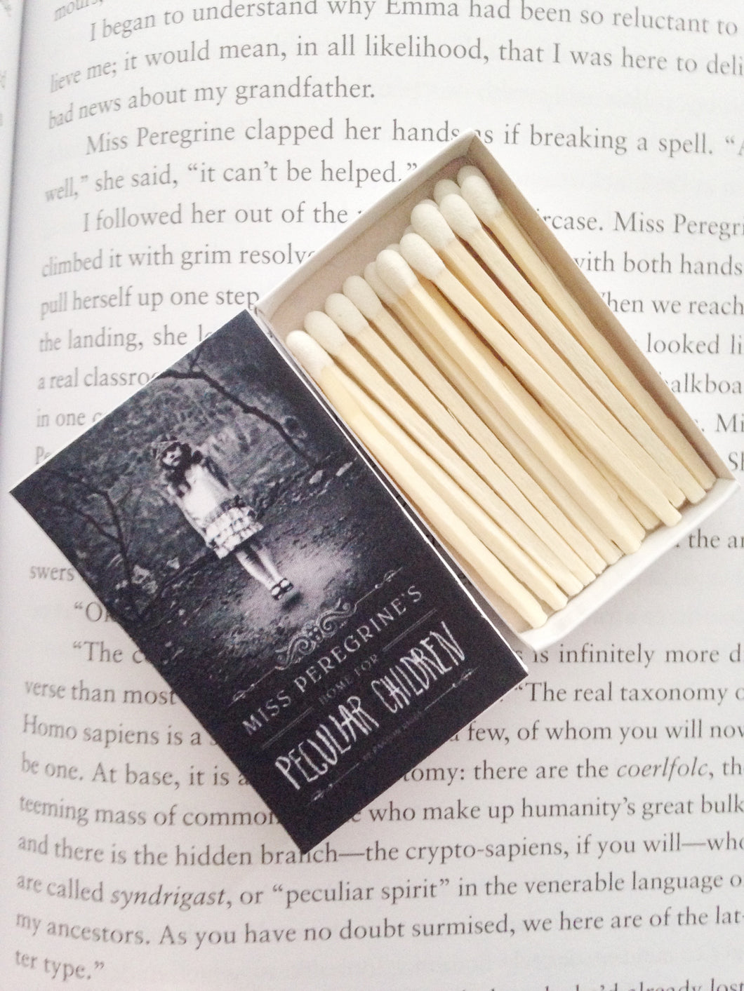 Miss Peregrine's Home for Peculiar Children Book Matches