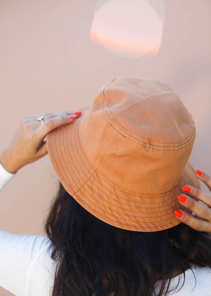 bucket hat rusty orange color