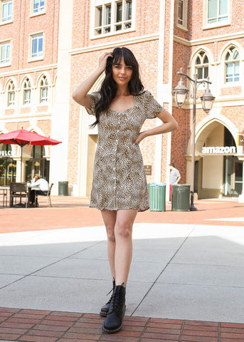 Amuse Society leopard button down dress