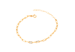 gold filled solid like chain bracelet