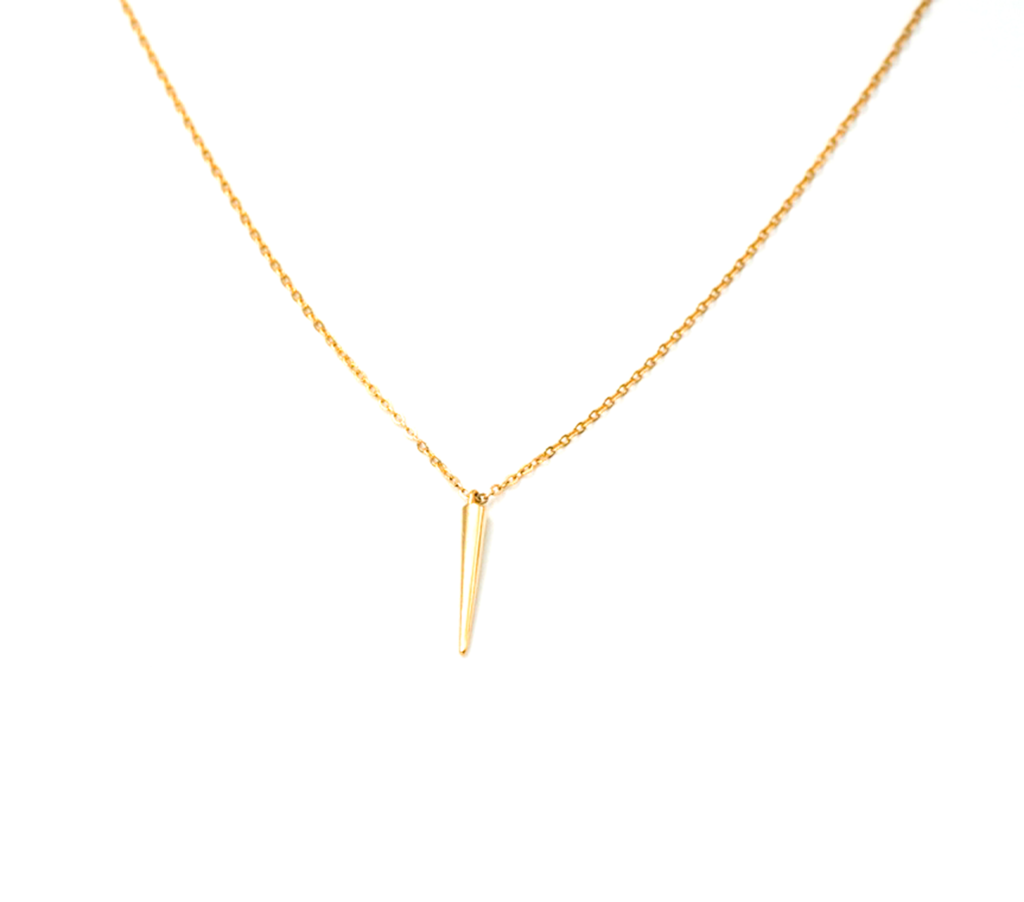 single spike gold filled necklace