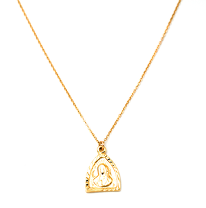 virgin mary gold filled necklace
