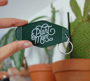 Vintage style motel keychain made for plant moms