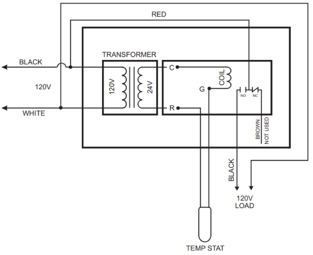 rib2401d wiring diagram 1997 f250 wiring diagram door conceal a stat 120 volt relay kit 15 amp maximum load ...