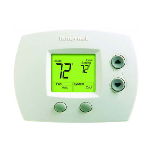 Honeywell FocusPRO 5000 Non-Programmable Thermostat - Standard Screen, 1H/1C, Auto C/O, Dual Powered