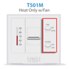 Pro1 IAQ T501M 24V Mechanical Non-Programmable Thermostat Removable Front Cover