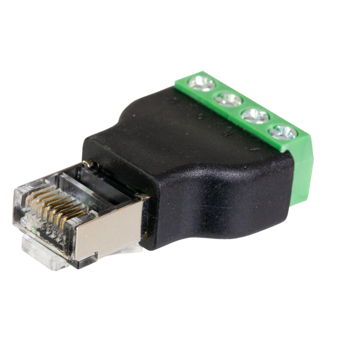 RJ45 Male to Terminal Block Adapter 4 Conductor Terminal