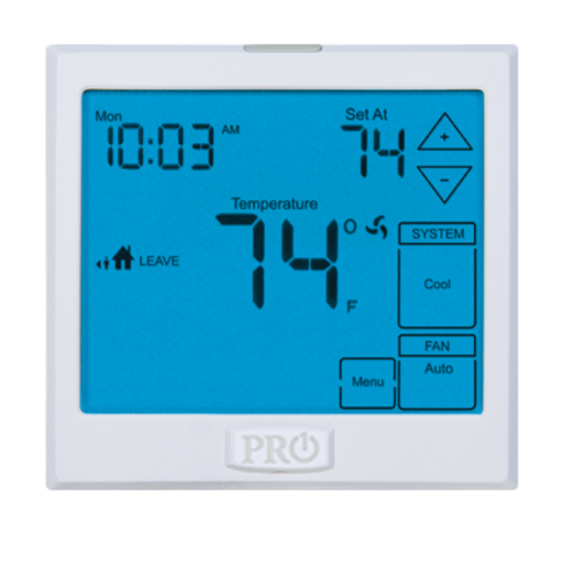 Pro1 IAQ Digital Programmable Touchscreen Thermostat T905