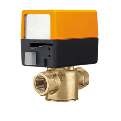 "ZONE220N-35+ZONE120NC Zone Valve (ZV), 3/4"", 2-way, Cv 3.5  Valve Actuator, Spring return, AC 120 V, On/Off"