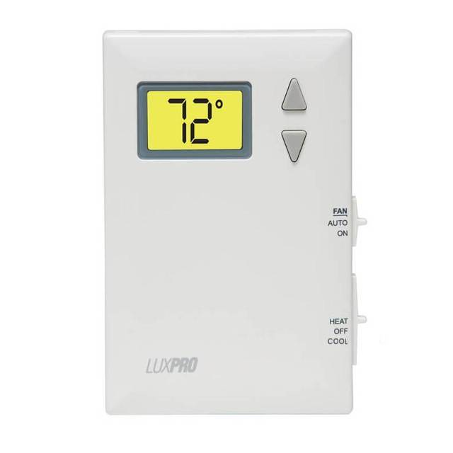 LuxPro 1H/1C Digital Non-Programmable Thermostat PSD011W