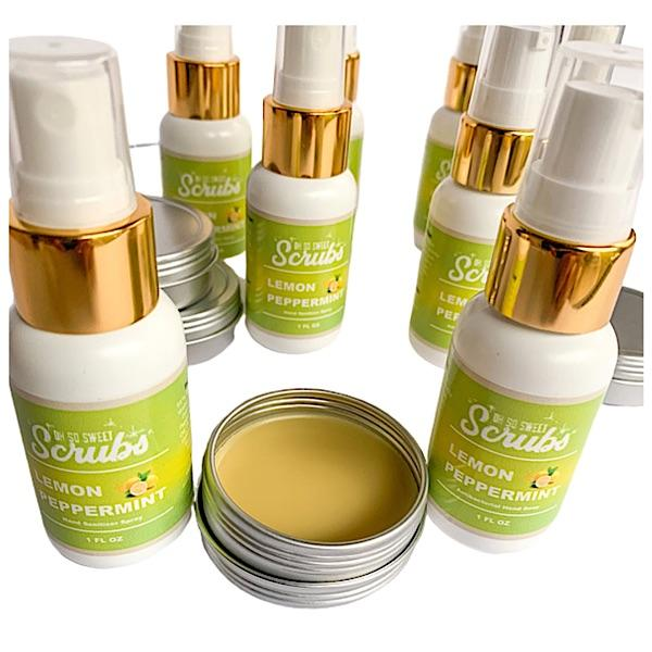 Oh So Sweet Scrubs LLC Lemon Peppermint Hand Sani Kit