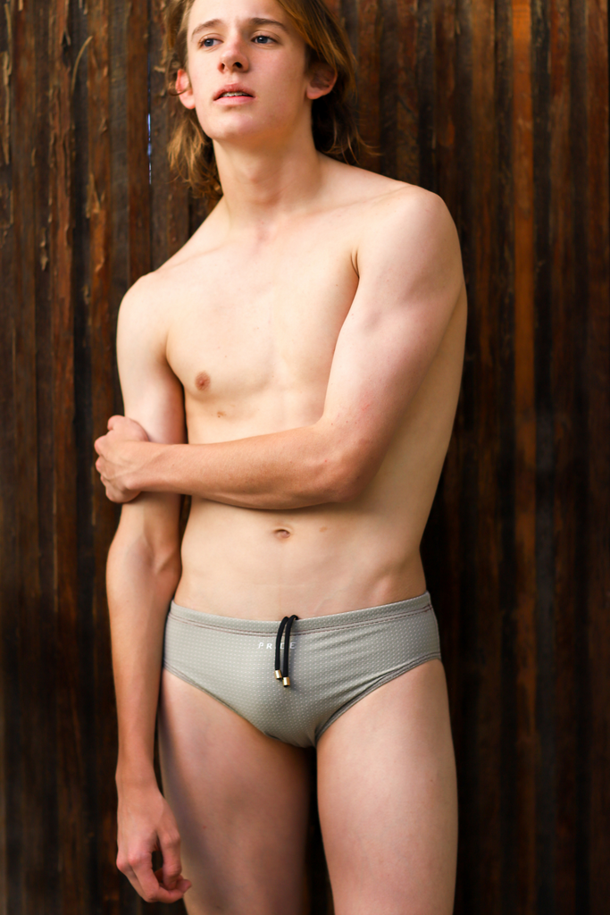 Celadon Pin Dobby Briefs (High Grip, Fast Drying, Stretch Weave)