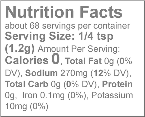 Loisa Organic Adobo Nutrition Facts & Sodium Content