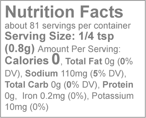 Loisa Organic Sazon Nutrition Facts & Sodium Content