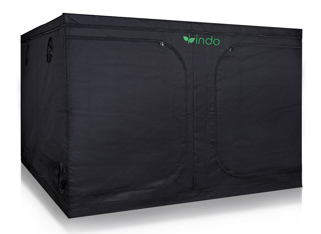 "Grow Tent - 120"" x 120"" x 80""  - 1680D Oxford Mylar Fabric - 19mm Steel Frame - Highly Reflective Inside - Heavy Duty Zippers"