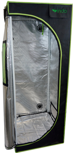 "Grow Tent - 24"" x 24"" x 63""  - 1680D Oxford Mylar Fabric - 19mm Steel Frame - Highly Reflective Inside - Heavy Duty Zippers - Observation Window"