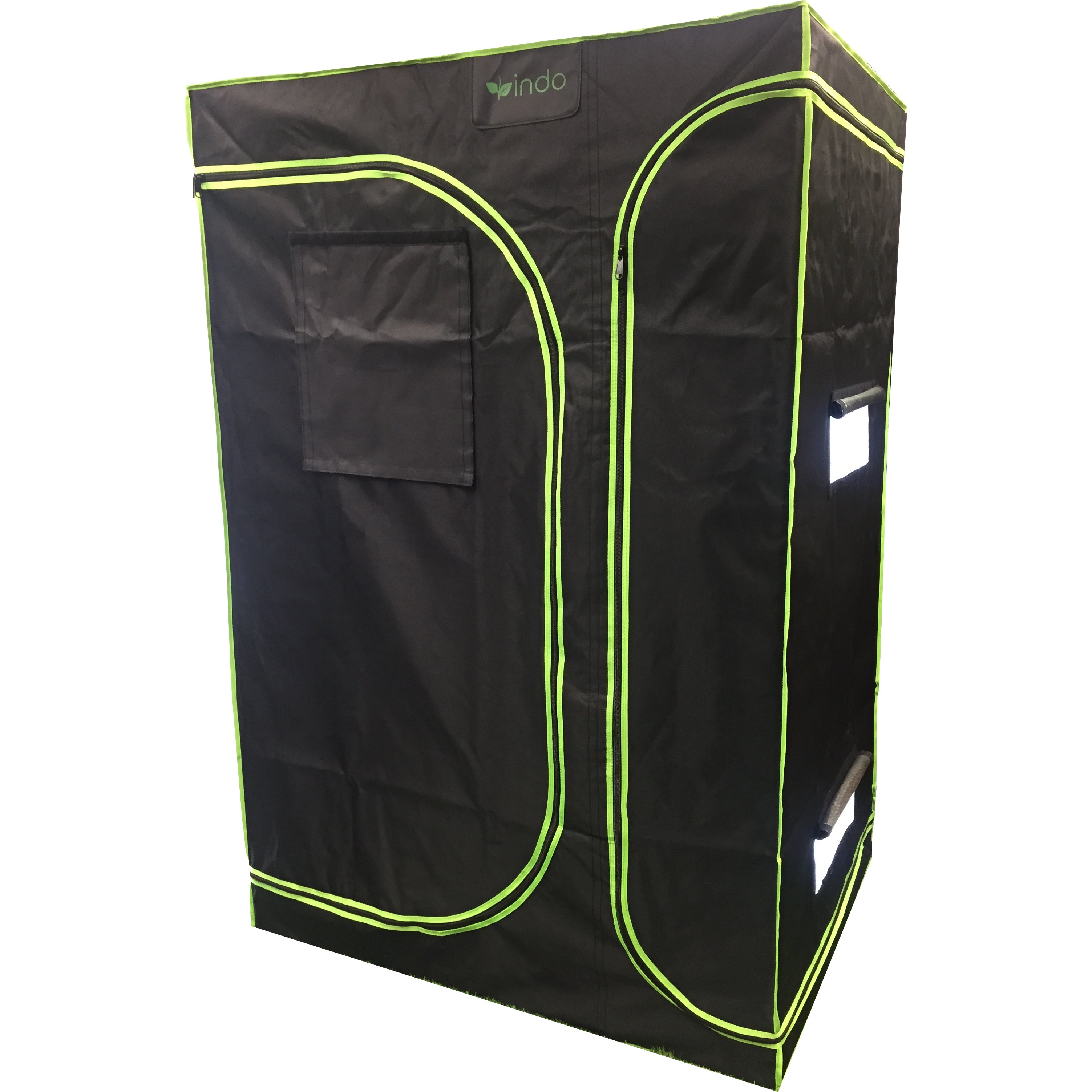 "Grow Tent - 2 in 1 - 60""x48""x80"" - 1680D Oxford Mylar, 19mm Steel poles, Observation Window, HD Zippers, Removeable Trays"