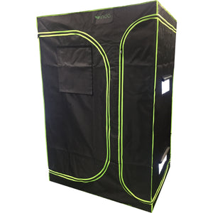 "Grow Tent - 2 in 1 - 108""x48""x78"" - 1680D Oxford Mylar, 19mm Steel poles, Observation Window, HD Zippers, Removeable Trays"
