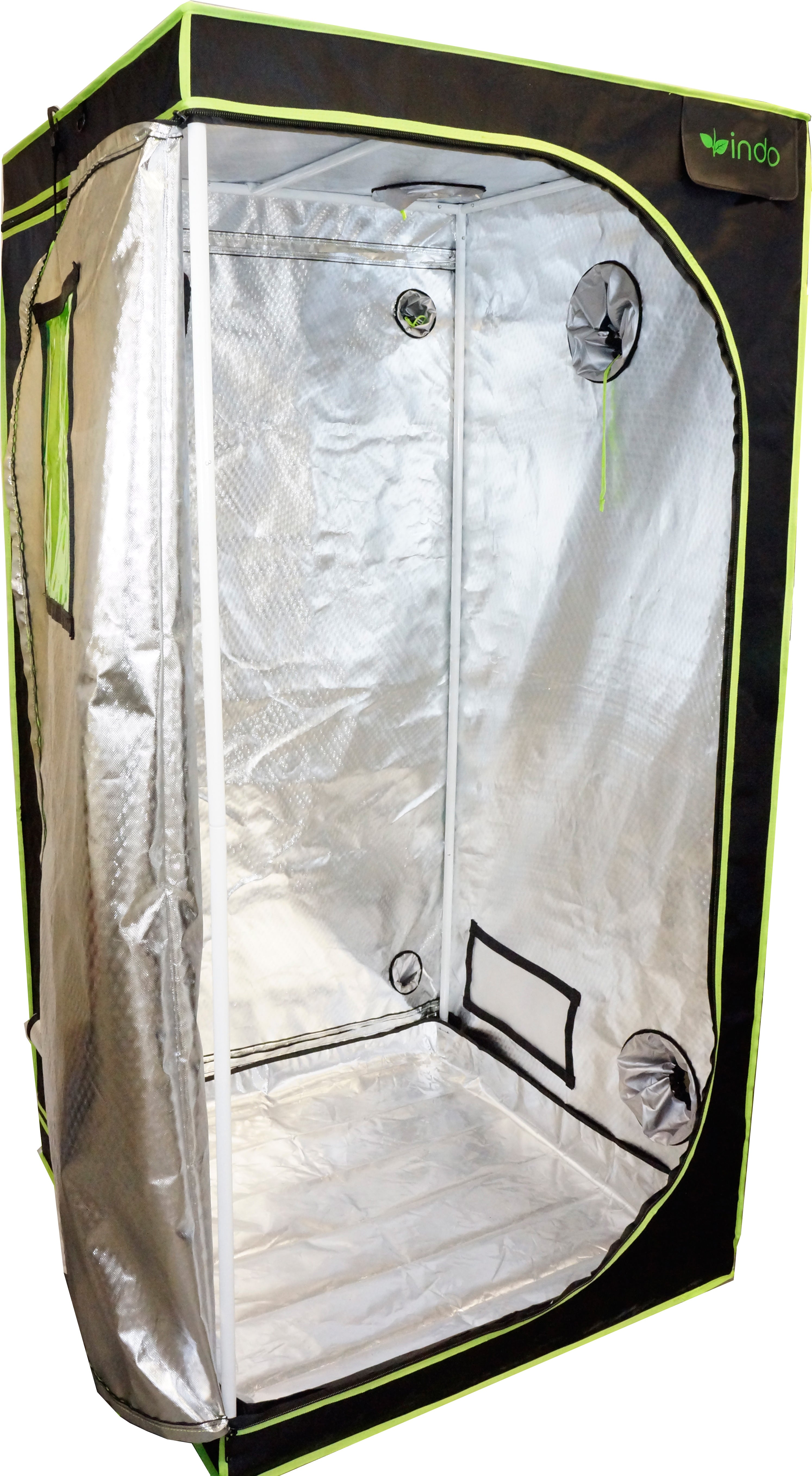 "Grow Tent - 60"" x 60"" - 1680D Oxford Mylar Fabric - 19mm Steel Frame - Highly Reflective Inside - Heavy Duty Zippers - Observation Window"