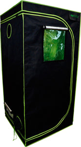 "Grow Tent - 48"" x 48"" x 80""  - 1680D Oxford Mylar Fabric - 19mm Steel Frame - Highly Reflective Inside - Heavy Duty Zippers"
