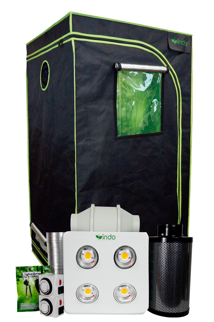 "Complete Grow Kit - 36""x36""x72"" 1680D Grow Tent-800W CREE Full-Spectrum COB LED - 4"" Fan and Filter"