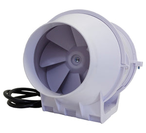 "Inline Blower Fan - 4"" 105 CFM - Light Weight for Exhaust or Intake Fan"