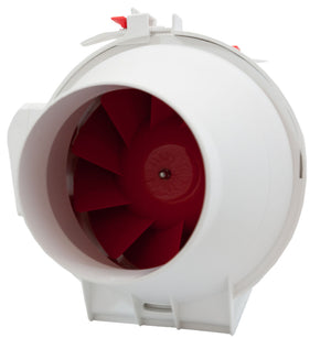 "Fan & Filter Kit - 4"" Inline Fan 165CFM with 12"" Activated Charocal Carbon Filter - 24hr Timer - Ducting with Clamps"