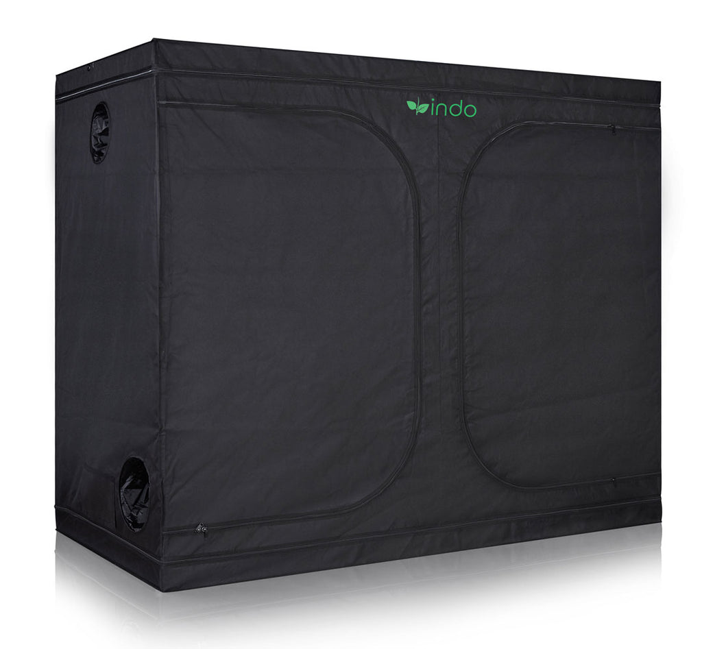"Grow Tent - 120"" x 60"" x 80""  - 1680D Oxford Mylar Fabric - 19mm Steel Frame - Highly Reflective Inside - Heavy Duty Zippers"