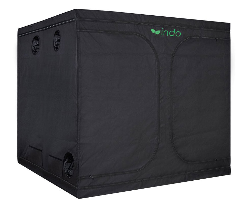 "Grow Tent - 96"" x 96"" x 80"" - 1680D Oxford Mylar Fabric - 19mm Steel Frame - Highly Reflective Inside - Heavy Duty Zippers"