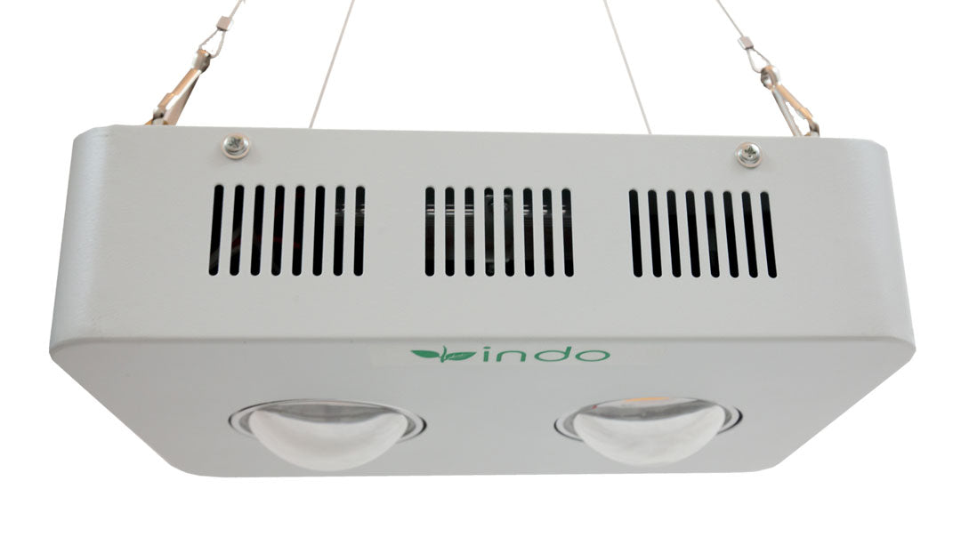 COB LED Grow Light 400W - CREE Full-Spectrum - 2 x COB Lamps - 100W (actual draw)