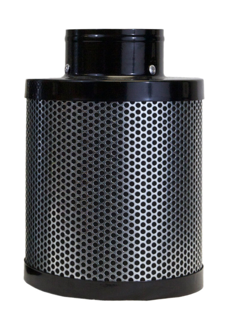 "Indo 4"" Charcoal Carbon Filter, 8"" Filter Length (10"" Total), pre-filter Included, Connect to 4"" Inline Fan"