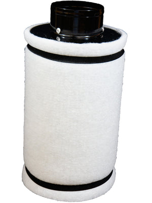 "Indo 4"" Charcoal Carbon Filter, 12"" Filter Length (14"" Total), pre-filter Included, Connect to 4"" Inline Fan"
