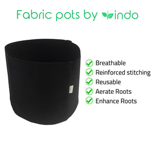 3 Gallon Heavy Duty Fabric Pots Grow Bags