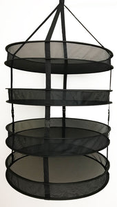 "Complete Dryer Kit – 24"" x 24"" x 48"" (4 Tier) - 4"" Fan & Filter Kit - 1680D Mylar Tent"