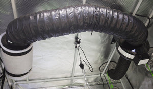 "Ducting 4"" Sound Reducer - Insulated Flex Ducting Muffler - Exhaust Fan to Filter Connection"