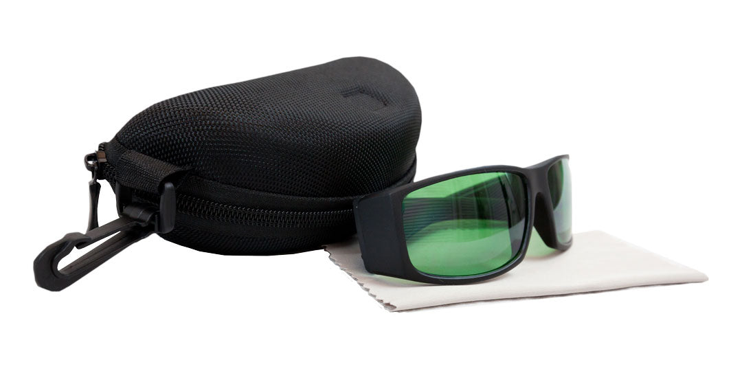 Sunglasses - Eye protection from grow lights 410-730NM, with case